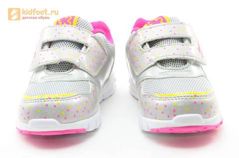 Светящиеся кроссовки для девочек Фиксики на липучках, цвет серый, мигает картинка сбоку. Изображение 5 из 15.