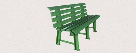Пластиковая скамья полимерная зеленая