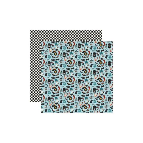 Лист двусторонней бумаги 30х30 см. Bro & Co. Cardstock Stickers by Simple Stories -1шт