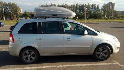 Автобокс Way-box 460 на крышу Opel Zafira