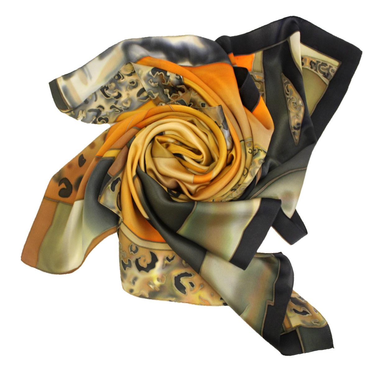 Шелковый платок в стиле Cartier С-60