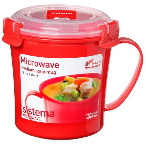 """Кружка суповая для СВЧ Sistema """"Microwave"""" 656 мл"""