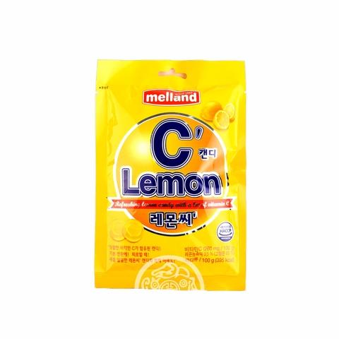 Карамель Melland Lemon C со вкусом лимона 100г Корея