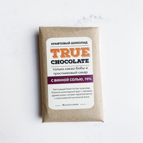Крафтовый шоколад True chocolate, сорт Гана, молочный, 60%