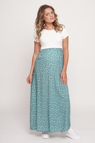 Платье для беременных и кормящих 11709 зеленый
