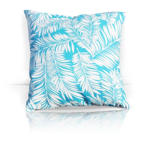 Подушка декоративная Пальма голубой уличная коллекция