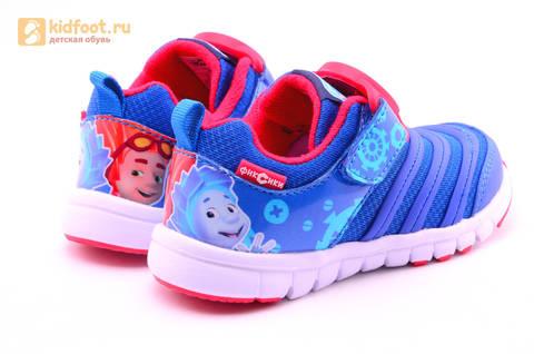 Светящиеся кроссовки для мальчиков Фиксики на липучках, цвет Синий, мигает пряжка на липучке, 5916D. Изображение 8 из 18.