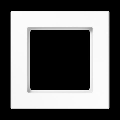 Рамка на 1 пост. Цвет Белый глянцевый. JUNG A CREATION. AC581WW
