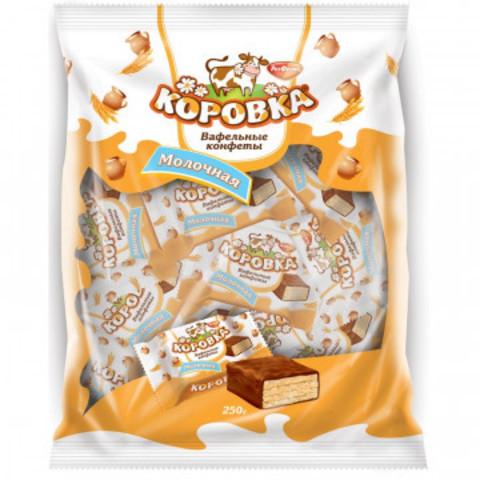Вафельные конфеты  Коровка молочная, 250 г