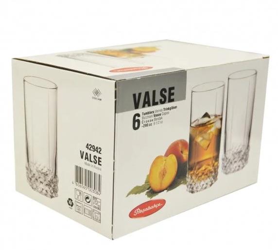 Набор высоких стаканов Pasabahce Valse 6 шт.  42942-6-V