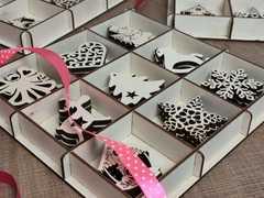 Набор ёлочных игрушек 9 видов по 3шт, всего 27 штук материал 6мм