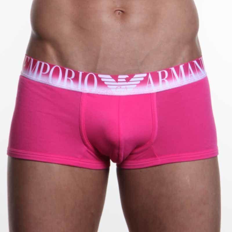 Мужские трусы хипсы Emporio Armani Pink Boxer