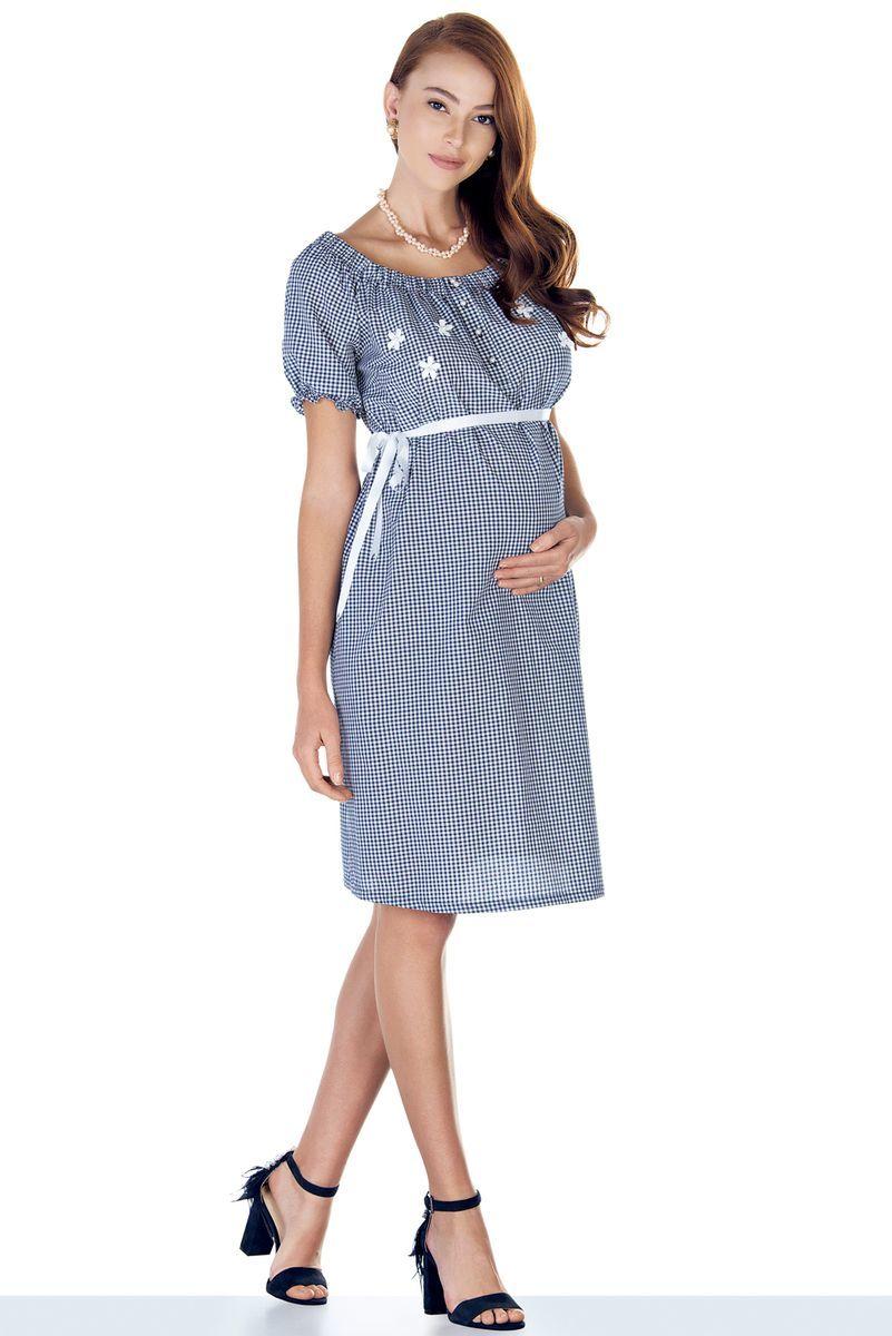 Платье для беременных 09439 клетка