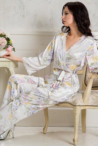 Шелковая пижама Mia-Amore LILIANNA 5995
