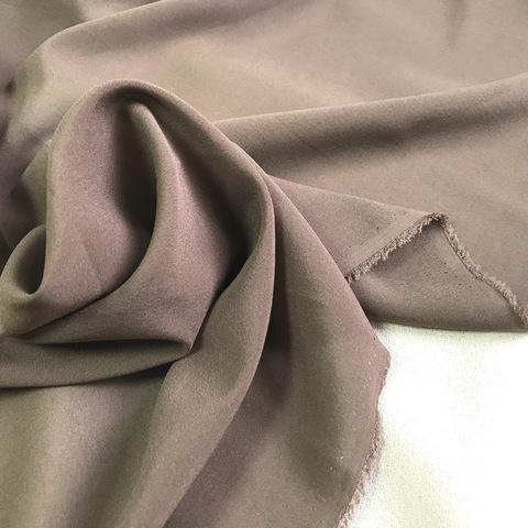 Шифон шелковый коричневый 1135
