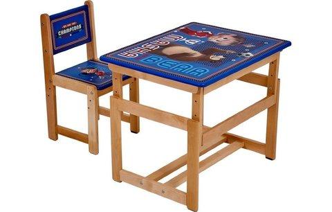 Комплект растущей детской мебели Polini kids Fun 400 SM, Маша и Медведь, 68х55,синий