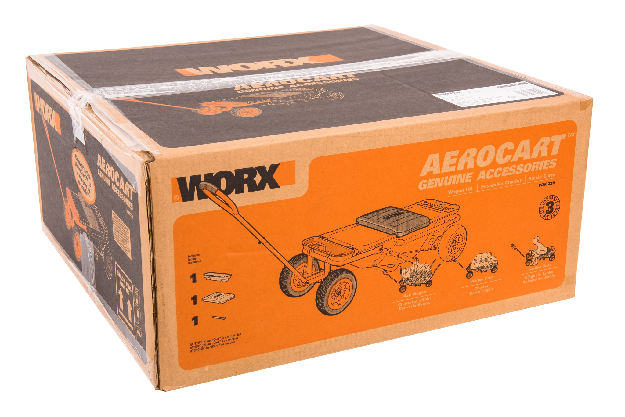 Дополнительные колеса для садовой тележки Aerocart WORX WA0228
