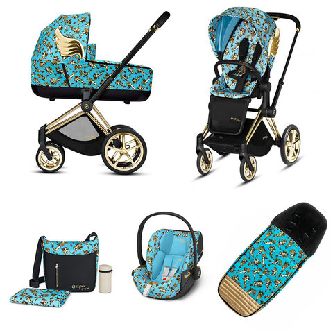 Набор с автокреслом Cybex Priam Lux III By Jeremy Scott Cherubs Blue