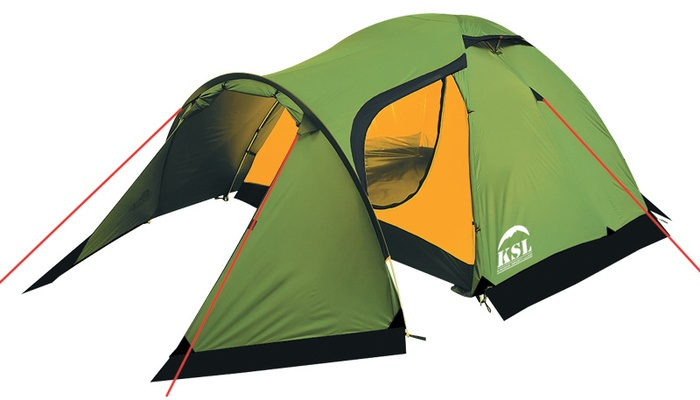 Палатка Alexika KSL Cherokee 4, зеленая