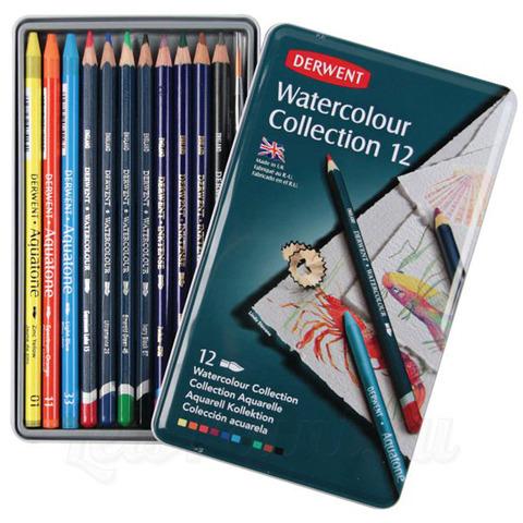 Набор акварельных карандашей из 12 предметов Derwent Watercolour Collection