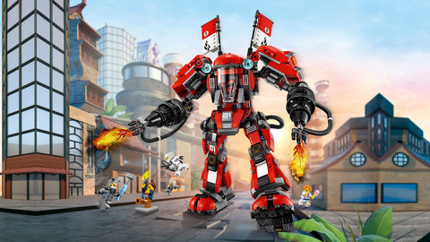 LEGO Ninjago Movie: Огненный робот Кая 70615 — Fire Mech — Лего Ниндзяго фильм
