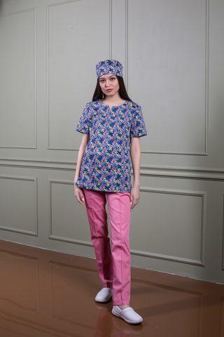 Куртка медицинская 14-1424 Цветы