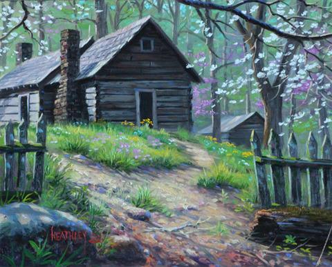 Картина раскраска по номерам 50x65 Вид на дом из-за забора