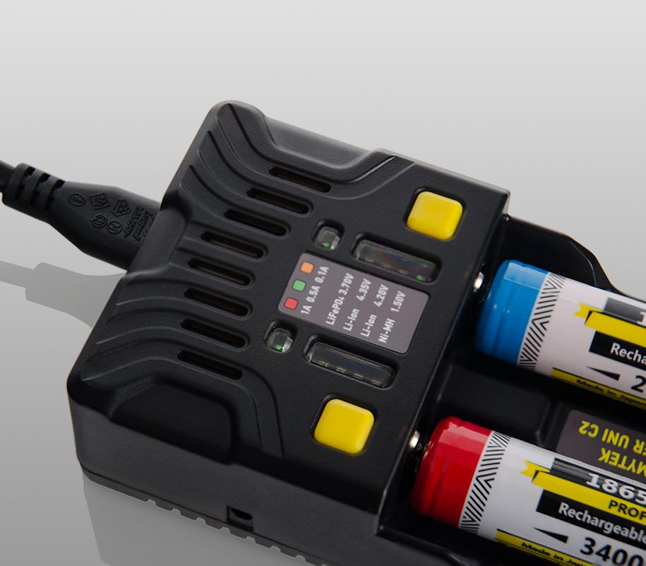 Универсальное зарядное устройство Armytek Uni C2 - фото 4