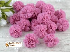 Помпоны из фатина розовые 23 мм