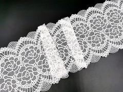 Эластичное кружево, 18 см, белое, (Арт: EK-2543), м