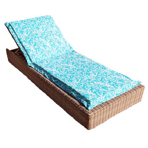 Подушка на шезлонг Кораллы голубой уличная коллекция