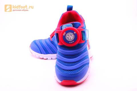 Светящиеся кроссовки для мальчиков Фиксики на липучках, цвет Синий, мигает пряжка на липучке, 5916D. Изображение 10 из 18.