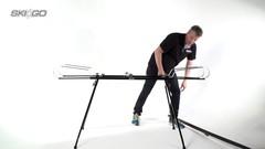 Станок-профиль SkiGo для смазки 2-х лыж на ножках - 2
