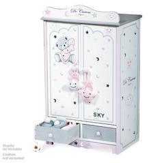 DeCuevas Гардеробный шкаф для куклы серии Скай 54 см (54024)