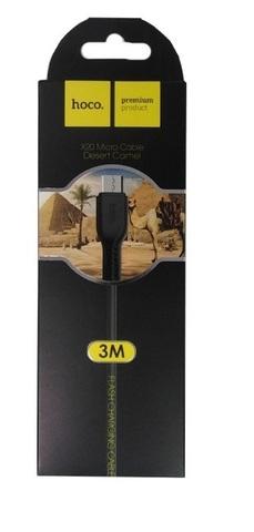 Кабель USB - microUSB Hoco X20 3м черный