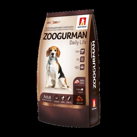 Зоогурман Daily Life Сухой корм для собак с индейкой