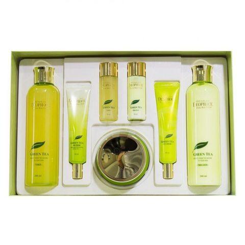Deoproce Premium Greentea Total Solution Skin Care 5 Set бьюти-набор уходовых средств с экстрактом зеленого чая