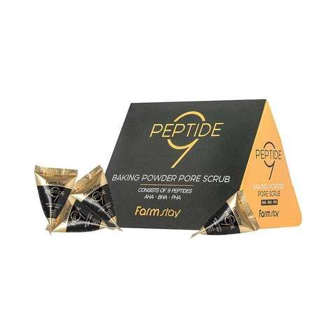 FarmStay Cкраб с пептидами в пирамидке PEPTIDE 9 BAKING POWDER AHA-BHA-PHA PORE SCRUB 1 шт
