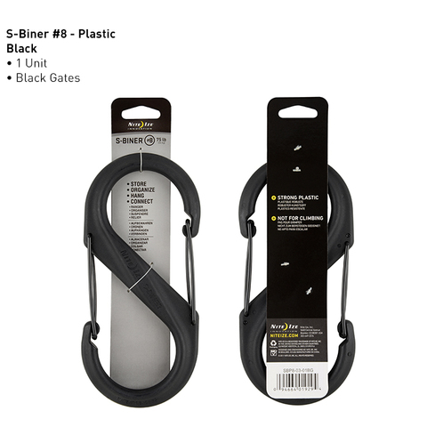 Карабин Nite Ize  S-Biner, пластиковый, размер 8