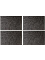 Комплект из 4-х прямоугольных кухонных термосалфеток Dutamel плейсмат салфетка сервировочная - под ротанг темно-коричневая DTM-028 45*30 см