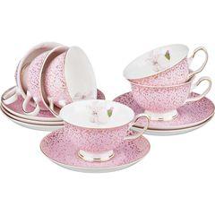 Чайный набор из фарфора на 6 персон 275-650