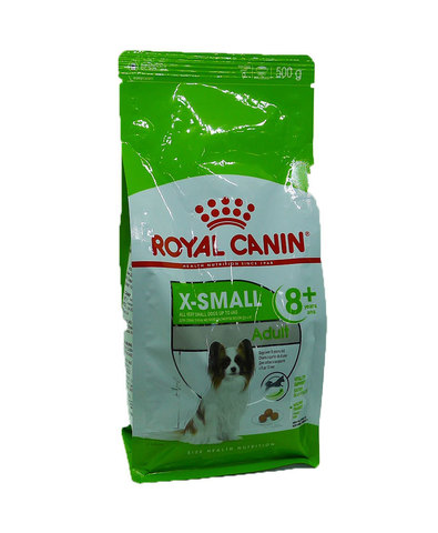 Royal Canin X-Small adult 8+ сухой корм для пожилых собак мелких пород 500г