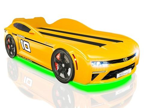 Кровать-машинка Romack Energy Желтая