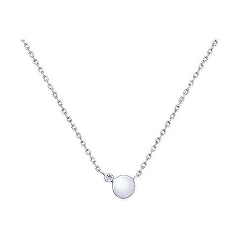 94070156 - Колье из серебра с круглой подвеской