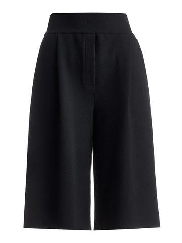 Женская юбка-брюки черного цвета из шерсти - фото 1