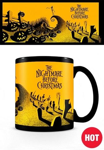 Кружка, меняющая картинку «Кошмар перед Рождеством»