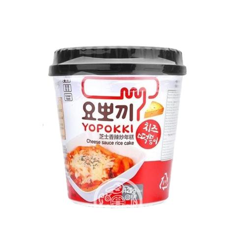 Рисовые клёцки Токпокки б/п с соусом со вкусом сыра 120г Южная Корея