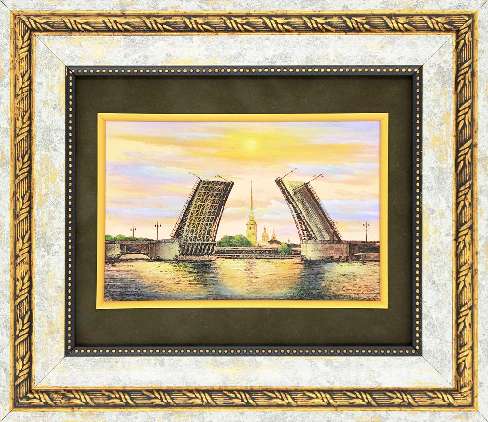 №9 «Дворцовый мост» Гравюра