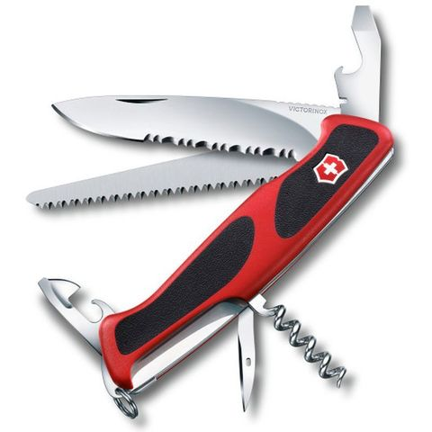 Нож перочинный Victorinox RangerGrip 155 (0.9563.WC) 130мм 12функций красный/черный