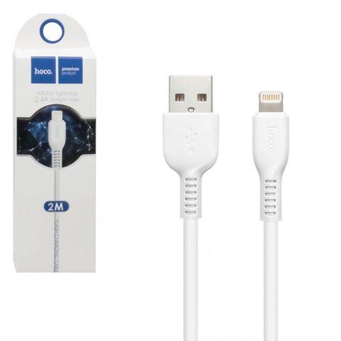 Кабель для IPhone (Lightning) Hoco 2м белый